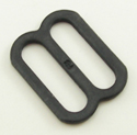 Metal Single-Bar Slides 1-Inch Wide Black