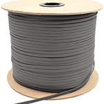 Parachute Cord Nylon 550 Paracord Wolf Gray Without Core By-the-spool