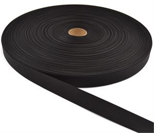 17337 Mil-spec Nylon Webbing 1 Inch-wide Black By-the-roll