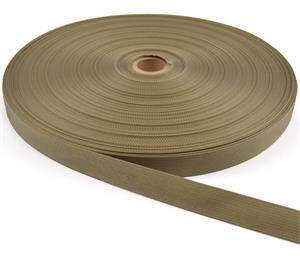 17337 Mil-spec Nylon Webbing 1 Inch-wide Tan 499 By-the-roll