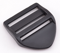 B-DB-01 1500 Black Plastic Double Bar Slide