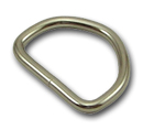 B-DR-02 1000 Silver Metal D-Ring