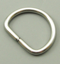 B-DR-02 1000 Silver Metal D-Ring Stainless Steel