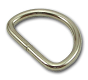 B-DR-W06 1500 Silver 6 Gauge Metal D-Ring