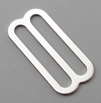 B-SB-03 1500 Silver Metal Single Bar Slide Thin