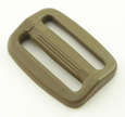 Plastic Single-bar Slides (1a) 1 Inch-wide Marpat Coyote Brown By-the-bag