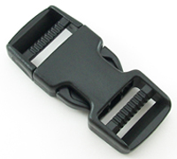 B-SR-01 1000 Black Dual Adjusting Side Release Buckle