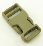 Single-adjusting Made In USA Side-release Buckles 1 Inch-wide Tan 499 Single Pieces