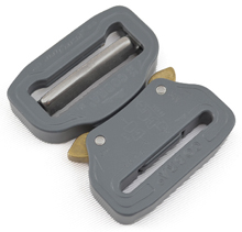 Cobra Interlocking Metal Buckle 1-1/2 Inch-wide Wolf Gray Single-pieces