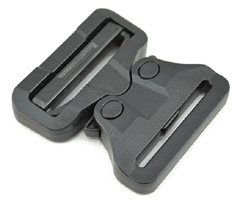 Cobra Interlocking Plastic Buckles 2 Inch-wide Black Single Pieces