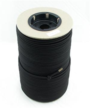 Elastic Cord 3/16 Inch-diameter Black By-the-spool