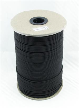 ELASTIC CORD 3/32 INCH-DIAMETER BLACK By-The-Spool