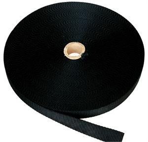 FLAT NYLON WEBBING 1-1/2 INCH-WIDE BLACK By-The-Yard