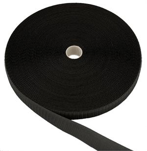 SEW-ON NYLON FASTENER TAPE BLACK HOOK 1-1/2 INCH-WIDE Wholesale