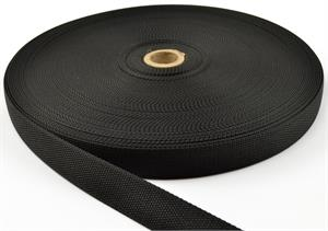 Nylon Webbing Mil-spec A-a-55301 1-1/4 Inch-wide Black By-the-roll