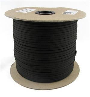 Parachute Cord Nylon 550 Paracord Black Without Core By-the-spool