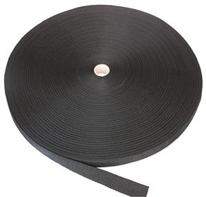 REGULAR-WEIGHT POLYPROPYLENE WEBBING 1 INCH-WIDE BLACK By-The-Yard
