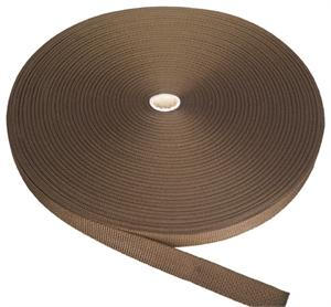 REGULAR-WEIGHT POLYPROPYLENE WEBBING 1-1/2 INCH-WIDE BROWN Wholesale