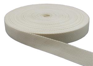 REGULAR-WEIGHT POLYPROPYLENE WEBBING 1 INCH-WIDE CREAM By-The-Yard
