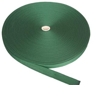 REGULAR-WEIGHT POLYPROPYLENE WEBBING 1-1/2 INCH-WIDE DARK GREEN Wholesale