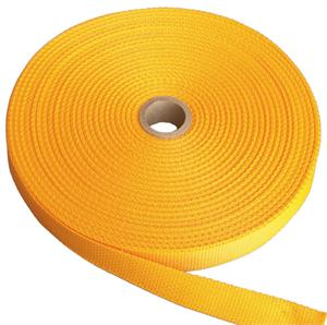 REGULAR-WEIGHT POLYPROPYLENE WEBBING 1 INCH-WIDE LIGHT GOLD Wholesale