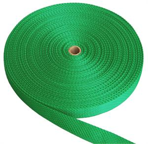 REGULAR-WEIGHT POLYPROPYLENE WEBBING 2 INCH-WIDE GREEN By-The-Yard