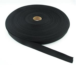 POLYPROPYLENE WEBBING LIGHT-WEIGHT HERRINGBONE 1 INCH-WIDE BLACK Wholesale