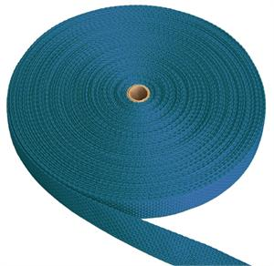 REGULAR-WEIGHT POLYPROPYLENE WEBBING 1 INCH-WIDE PACIFIC BLUE By-The-Yard