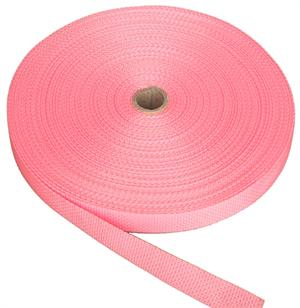 REGULAR-WEIGHT POLYPROPYLENE WEBBING 1 INCH-WIDE PINK By-The-Yard