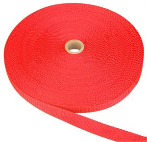 REGULAR-WEIGHT POLYPROPYLENE WEBBING 2 INCH-WIDE RED Wholesale