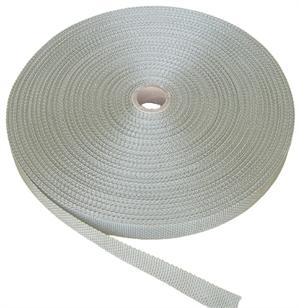 REGULAR-WEIGHT POLYPROPYLENE WEBBING 1 INCH-WIDE SILVER By-The-Yard