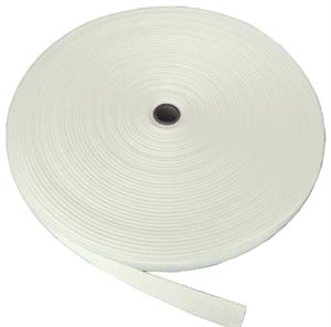 Regular-weight Polypropylene Webbing 1 Inch-wide White By-the-roll