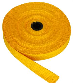 REGULAR-WEIGHT COTTON WEBBING 1 INCH-WIDE GOLD By-The-Roll