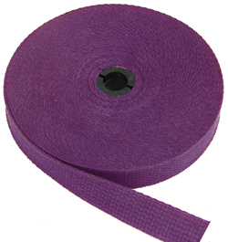 REGULAR-WEIGHT COTTON WEBBING 1 INCH-WIDE PURPLE By-The-Roll