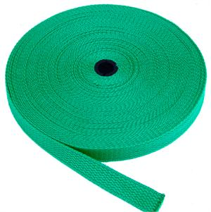 REGULAR-WEIGHT COTTON WEBBING 1 INCH-WIDE TEAL By-The-Roll
