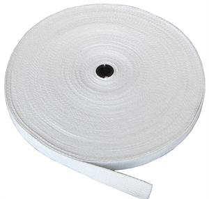 REGULAR-WEIGHT COTTON WEBBING 1 INCH-WIDE WHITE By-The-Yard