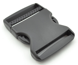 Single-adjusting Made In USA Side-release Buckles 2 Inch-wide Black By-the-bag