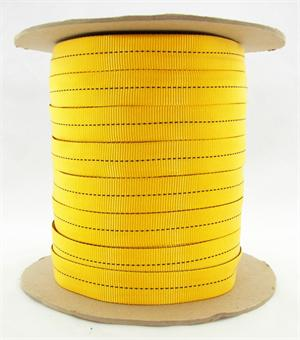 Mil-w-5625 Tubular Nylon Webbing 1 Inch-wide Yellow By-the-yard