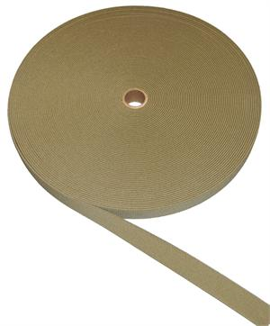 Woven Poly-elastic Webbing 4 Inch-wide Tan 499 By-the-roll
