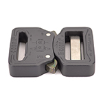 Cobra Interlocking Metal Buckle 1-1/4 Inch-wide Black By-the-bag