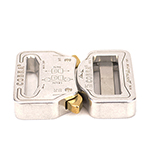 Cobra Interlocking Metal Buckle 1-1/4 Inch-wide Polished Single-pieces