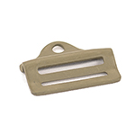 Metal Double-bar Slides Mil-b-543 1 Inch-wide Coyote By-the-bag