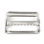 Metal Single-bar Slides Moveable Toothbar 2 Inch-wide Silver By-the-bag