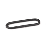 Metal Oval Loops Welded 1-1/2 Inch-wide Black Single Pieces