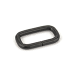 Metal Rectangular Loops 3/4 Inch-wide Black By-the-bag