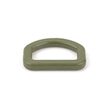 Plastic D-rings 1 Inch-wide Olive Drab Single Pieces