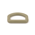 Plastic Made-in-usa D-rings 1 Inch-wide Tan 499 By-the-bag