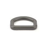 Plastic Made-in-usa D-rings 1 Inch-wide Wolf Gray Single Pieces