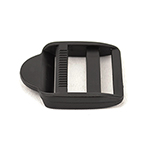 Double-bar Slides Square 1-1/2 Inch-wide Black By-the-bag