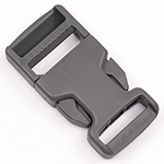 Single-adjusting Made In USA Side-release Buckles 1 Inch-wide Wolf Gray Single Pieces